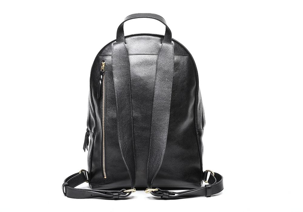 Fully leather laptop antitheft classic zipper backpack