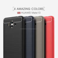 Ultra Thin Full Cover Carbon Fiber Armor silicone TPU Case For Mate 10