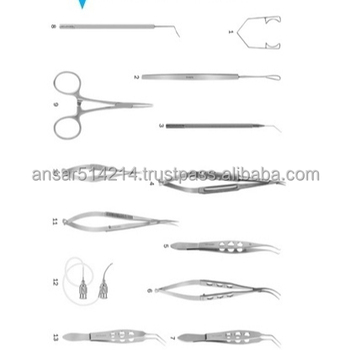 Manual Small Incision Cataract Surgery Set High Quality Stainless Steel