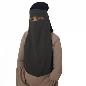 Naqab Single Layer Muslim Woman Niqab Hijab Fashion Buy Naqab Single Layer Niqab Hijab Black Niqab Product On Alibaba Com
