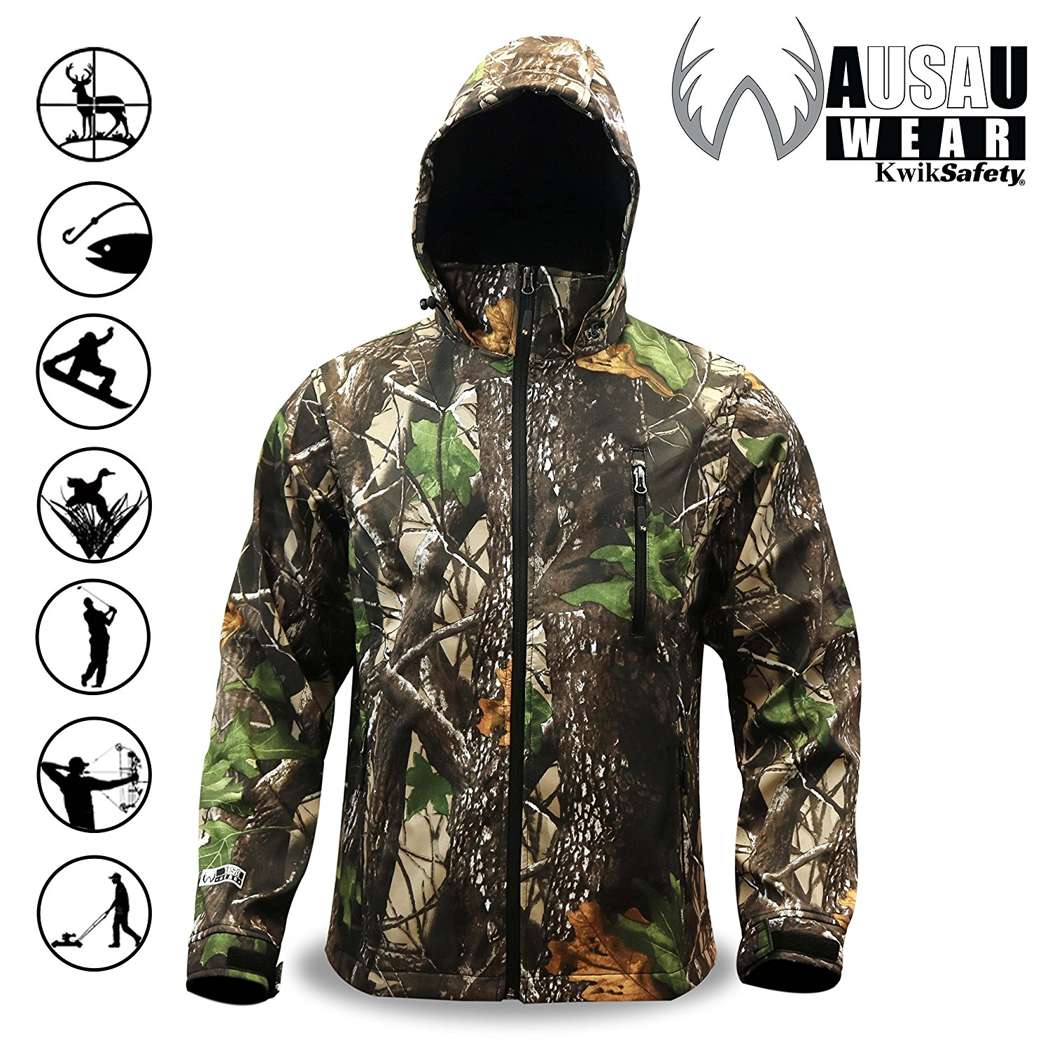 c7d25065852d1 Get Quotations · KwikSafety HUNTSMAN   Camo Rain Suit & Camo Soft Shell  Jacket   All Year Water Resistant
