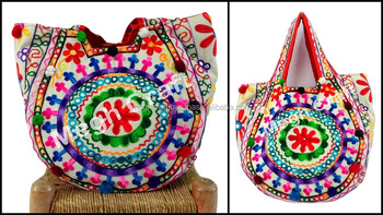 Traditional indian ladies Handbags - fashion boho gypsy Handbags - tote  handbags -vintage Kutch Handmade 472aa4776c2b3