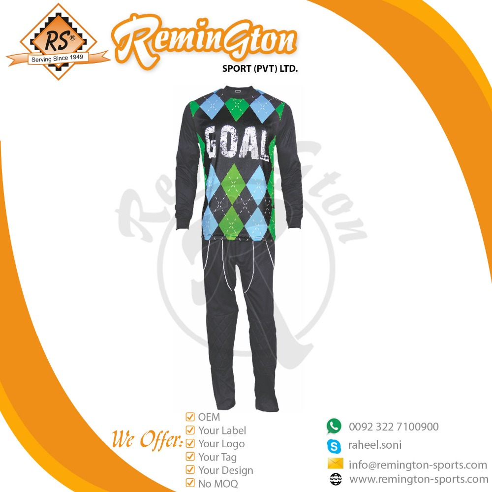 Goalkeeper jersey Customized Design with Goalkeeper Pant Goalkeeper Kit