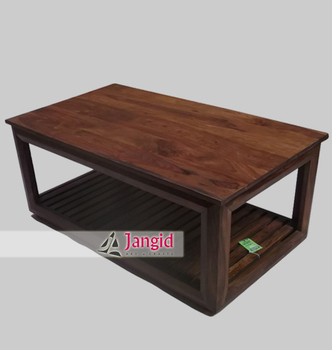 Natural Modern Indian Wooden Center Table Designs - Buy