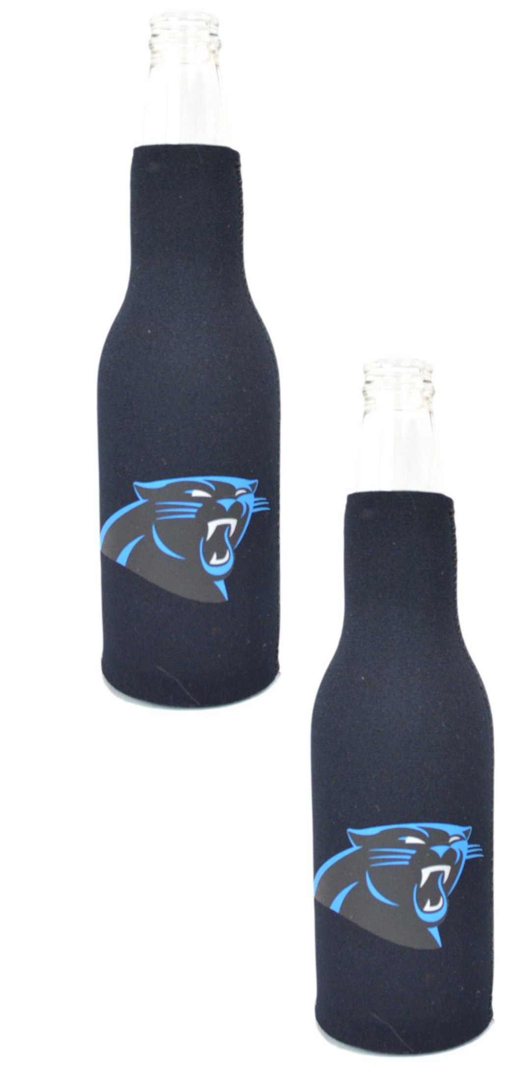 Official National Football League Fan Shop Authentic NFL 2-pack Insulated Bottle Cooler (Carolina Panthers)