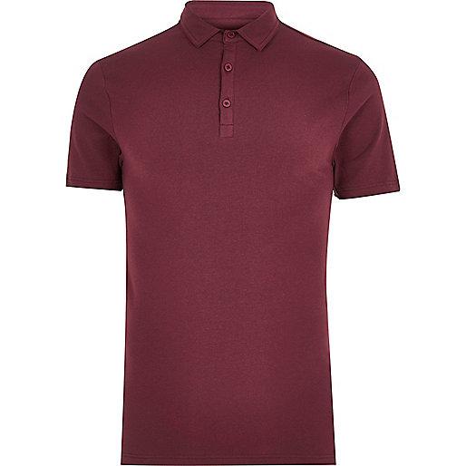 burgundy polo shirt mens