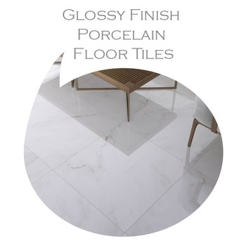 600x1200mm Glossy Finish Polished Porcelain Floor Tiles 9.9mm Thickness