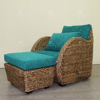 Einzigartiges Design Natürliche Wasserhyazinthe Sessel Und Hocker