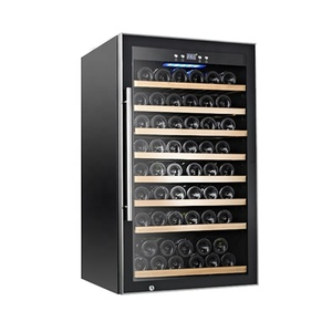 China wholesale 75 bottles Wine refrigerator Wine Cellar FreeStanding Quiet Operation best rated wine cooler