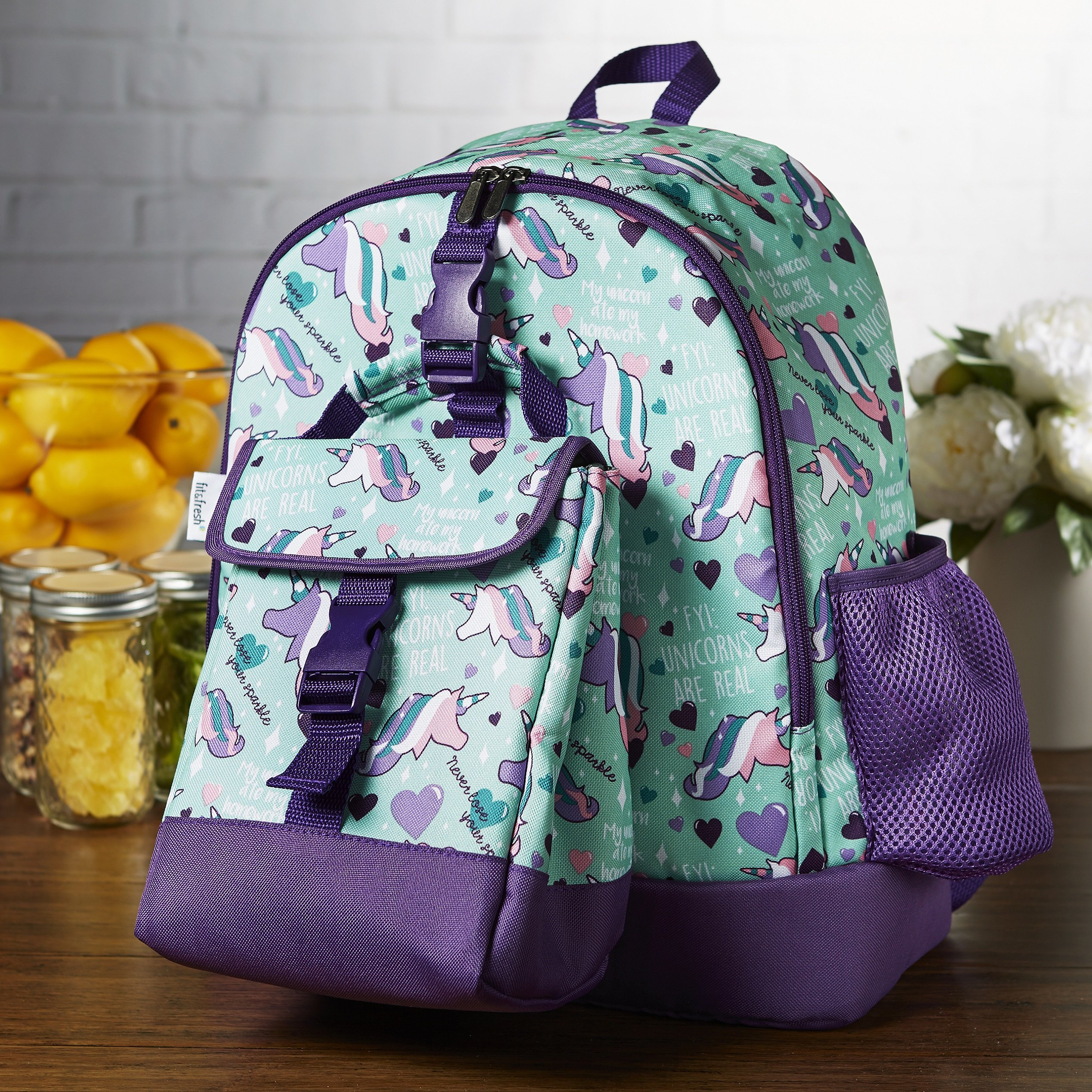 Get Quotations · Fit   Fresh Elena Backpack for Kids with Matching  Insulated Lunch Bag 47769fa99c430