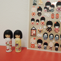 Best selling cute colorful paper for wall decoration purpose1010 Kokeshi pvc sticker