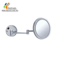 Round 8 inch 3 magnify Wall mounted LED light wall mirror