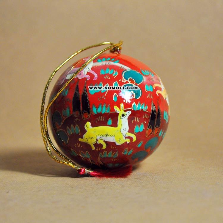 Paper Mache Christmas Ornament.Jungle Life Hand Painted Paper Mache Christmas Baubles Ornament Ball Buy Christmas Baubles Hand Painted Christmas Ball Christmas Ornament Product On