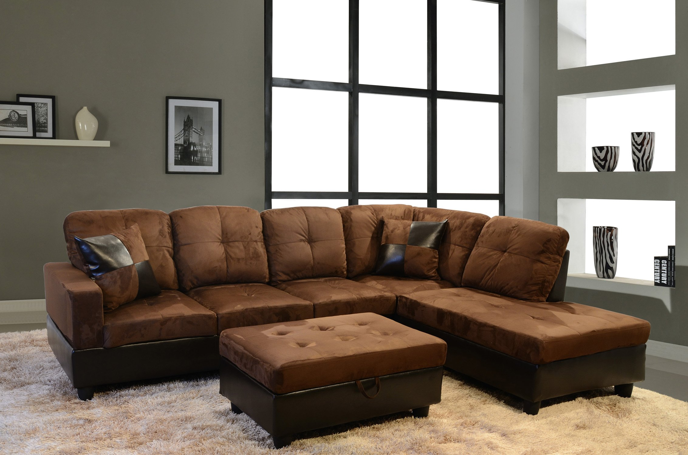 Cool Cheap Microfiber Leather Sectional Sofa Find Microfiber Squirreltailoven Fun Painted Chair Ideas Images Squirreltailovenorg