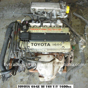 USED JAPENSE ENGINE AND TRANSMISSION TOY 4AGE - FRONT WHEEL DRIVE MANUAL 5  SPEED 16V DOHC EFI