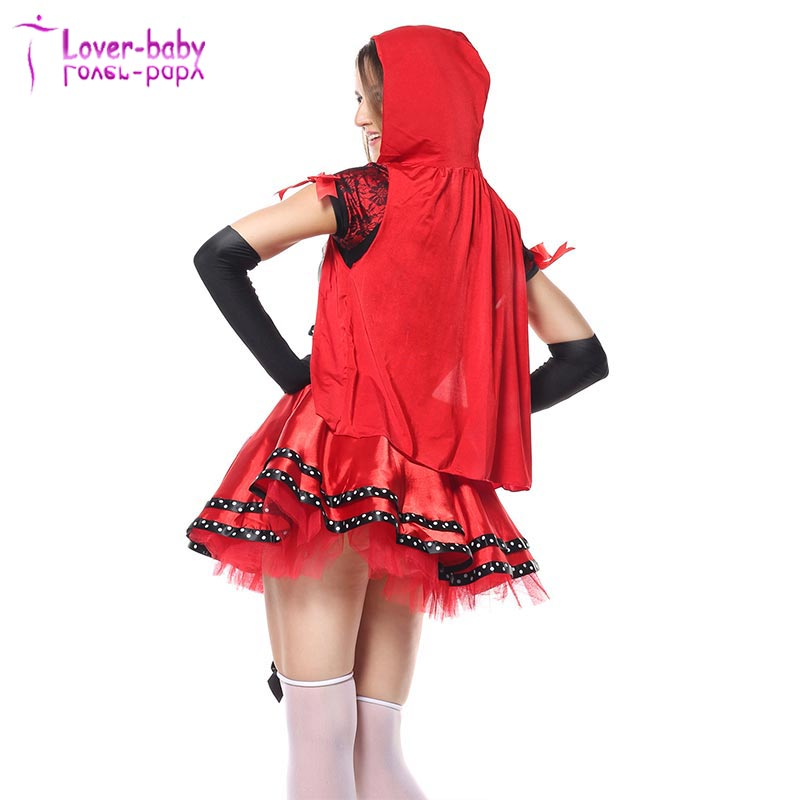 New Ladies Adult Halloween Little Red Riding Hood Costume