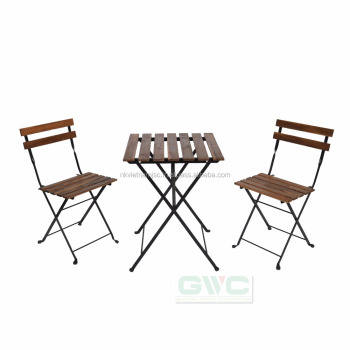 Patio Furniture Bistro Set 3 Pieces Folding Coffee