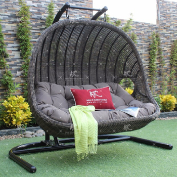 Beau Wicker Synthetic Rattan Outdoor Hammock Double Hanging Chair