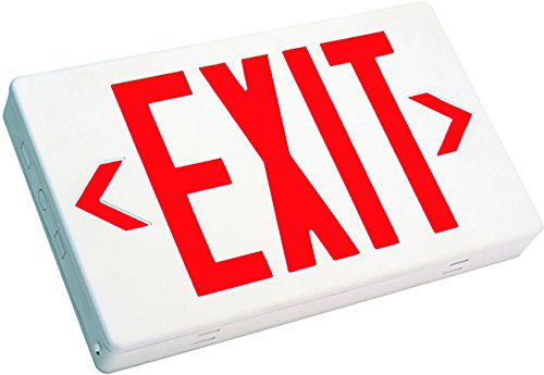 Westgate LED Exit Sign Emergency Light - Lighting Emergency LED Light with Battery Backup - for Residential & Commercial (Red)