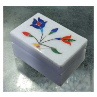 Marble Jewellery Box Stone Handicraft for Wedding Woman Gifts Inlay art