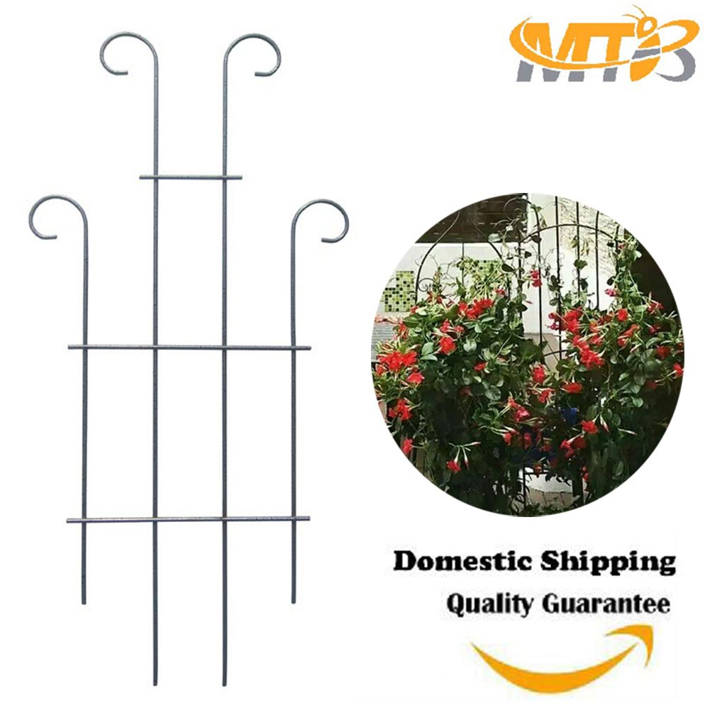 ,Plant Support MTB Silver Coated Wave Pot Trellis Panel 31 Plant Stakes for Climbing Plants Pack of 2