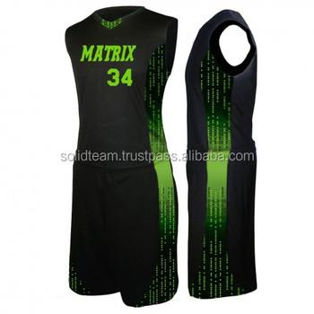 2017 Latest Design Basketball Jersey Pattern Buy Custom Made