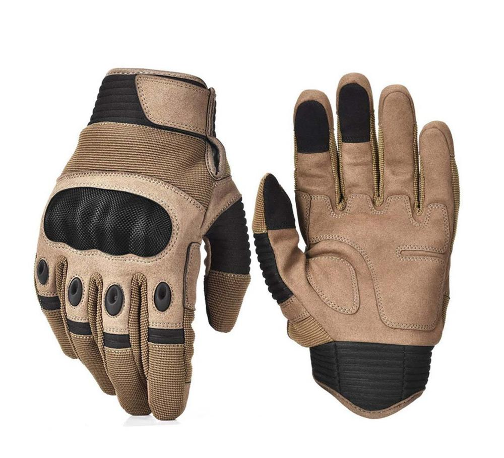 Hard Knuckle Military Tactical Gloves Adjustable Black Men Motorcycle Motorbike