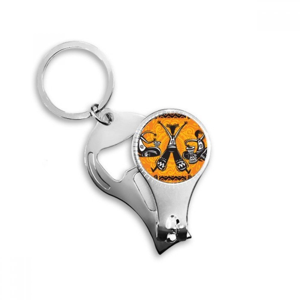 Dance Celebrate Mexico Totems Mexican Tambourine Metal Key Chain Ring Multi-function Nail Clippers Bottle Opener Car Keychain Best Charm Gift