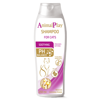 Animal Play - Soothing pet shampoo for cats with extract melissa, 250ml