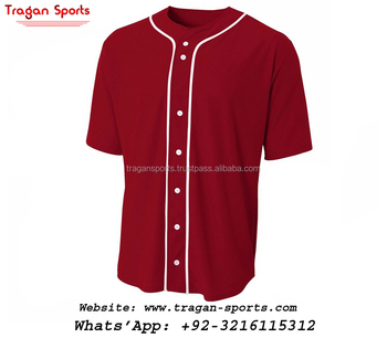 Plain button up baseball jersey black sleeves baseball jersey