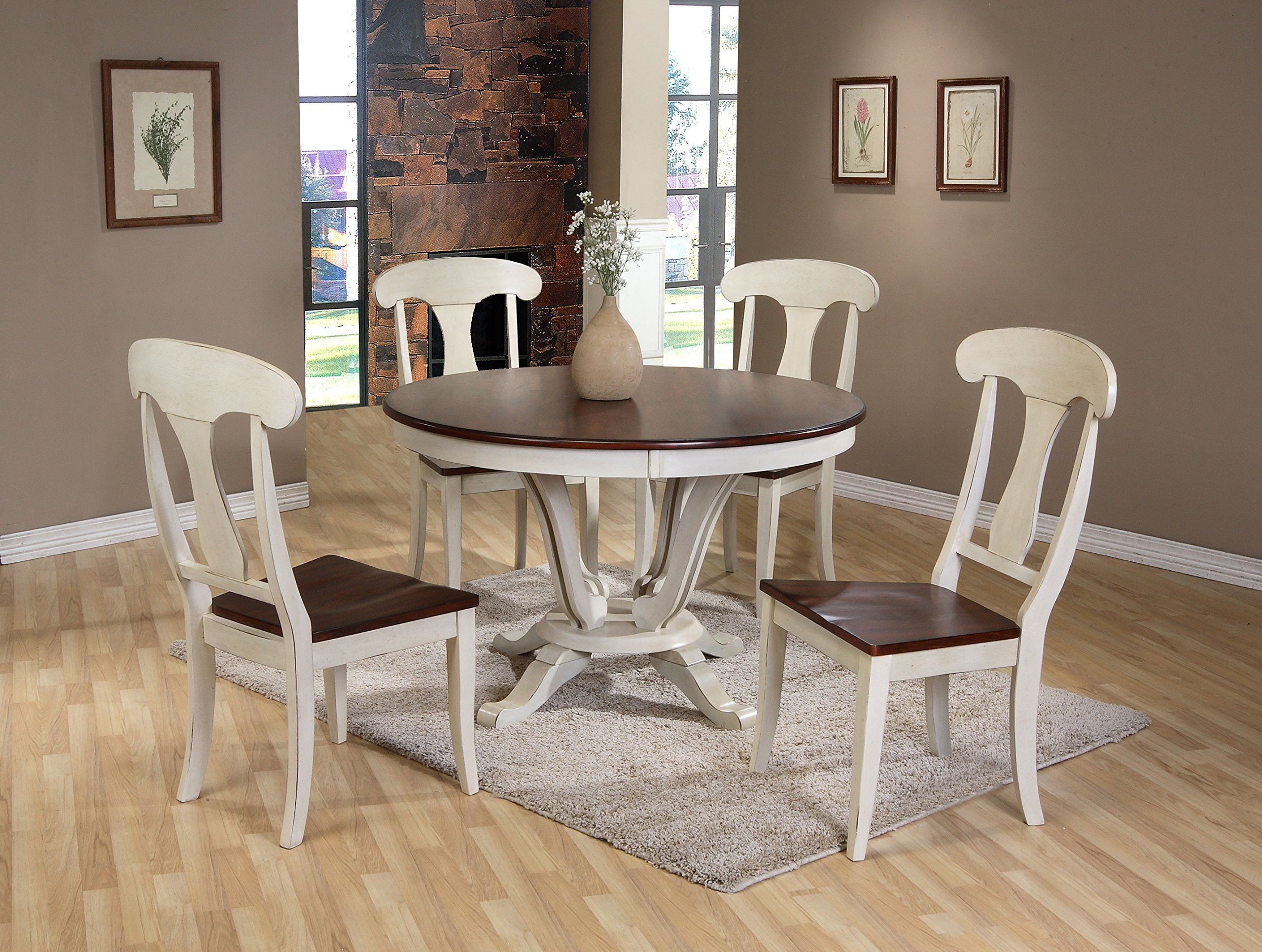 48 inch dining table 60 inch get quotations baxton studio napoleon chic country cottage antique oak wood and distressed white 5piece dining cheap 48 inch table top find top deals on line at
