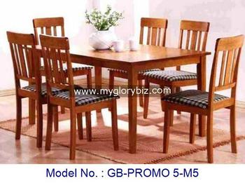Malaysia Solid Rubber Wood Dining Chairs And Table 1 6 4 Wooden