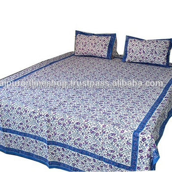 Buy Cotton Hand Made Indian 100 Cotton Double Bed Sheet Set King