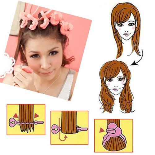 Get Quotations Curler Foam Rollers Hair 6 Pcs Makers Soft Sponge Bendy