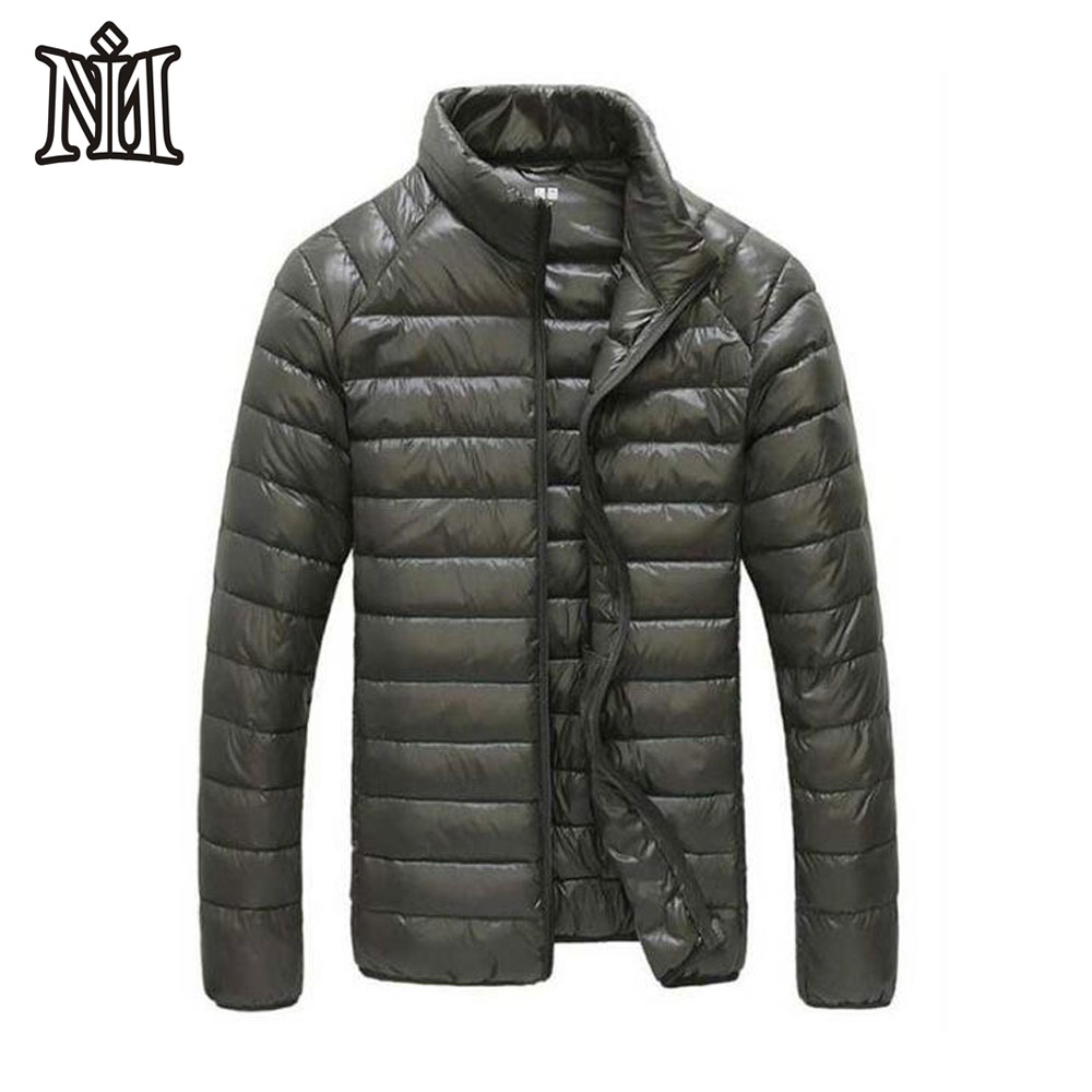 2019 New Autumn Winter Lightweight Down Jacket Men 90 White Duck Down Coat Mens Stand Collar Ultralight Down Jacket Male Parka Ample Supply And Prompt Delivery Jackets & Coats