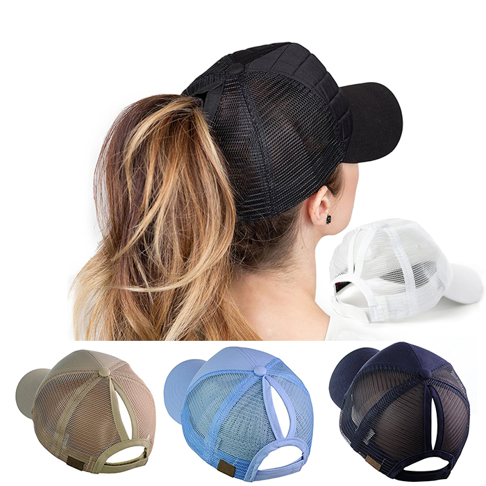 Ponytail baseball cap Messy Buns Trucker Plain sports Visor Caps Ponytail  hat Wholesale Pigment Dyed Fitted d4818b5486d2