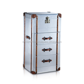 Aviator Furniture Bed Side Table With Drawer, Royal Aviator Furniture  Collection