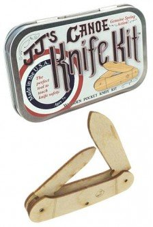 Canoe Wooden Knife Kit USA Tin Box-Science Kits