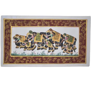 Indian Handmade Elephant Design Wall Decor Miniature Ethnic Handmade ...