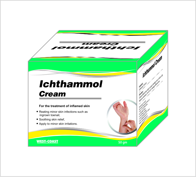 Cosmeceutical Product Ichthammol Cream For Inflamed Skin, View ichthammol  ointment, Product Details from WESTCOAST PHARMACEUTICAL WORKS LIMITED on
