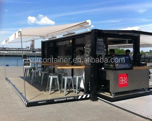 Shipping mobile container restaurant modular 20ft buy for Container maison legislation