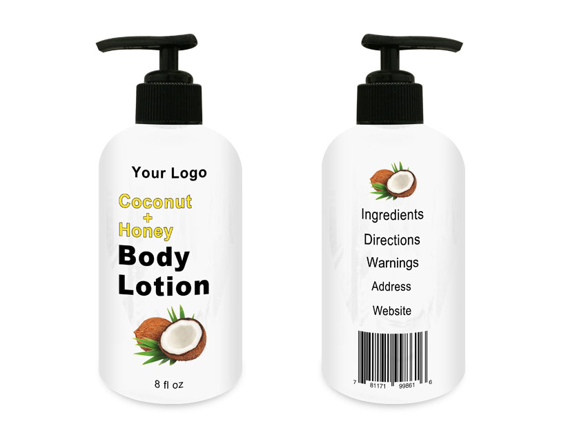 Kokosmelk en Honing Bodylotion 8 floz