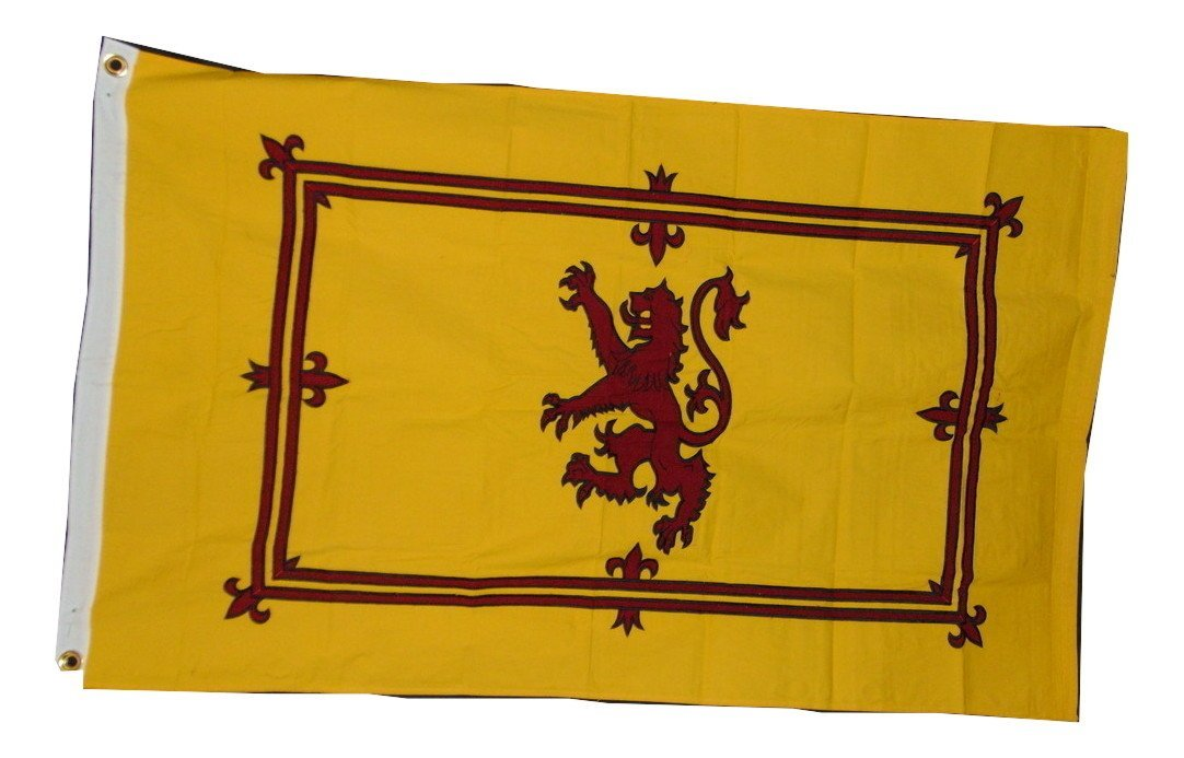 Scotland Scottish Rampant Lion Flag Heavy Cotton Embroidered 3 X 5 Flag New