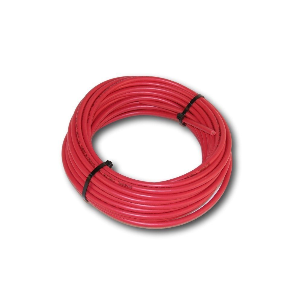 30' Bulk Solar cable Red #10 Copper wire 19 strand 1000VDC with Tough XLPE Insulation UL Listed
