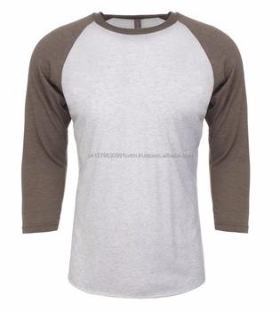 8fc8e4760 Wholesale 3/4 Sleeve Raglan Tee Plain Baseball T Shirt With Custom Logo  Printing