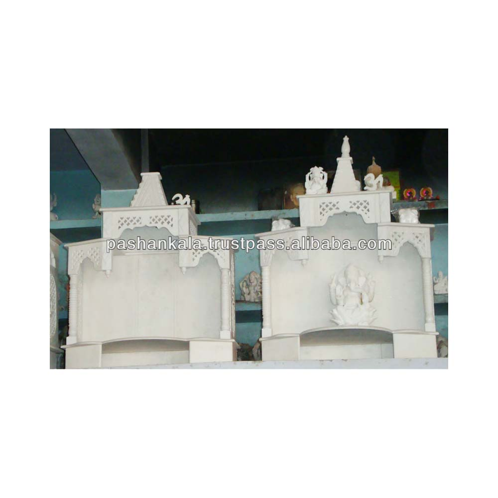 White Indian Marble Temple For Home Design Decorative - Buy Small ...
