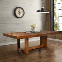 Dining Table Suar 1 Slab Piece Solid top Organic Style Natural Color