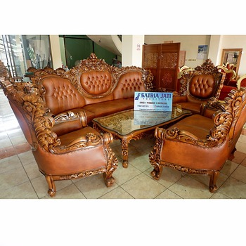 Luxury Wooden Living Room Sofa Sets Florys Indonesia Furniture Carved Teak Wood Product On