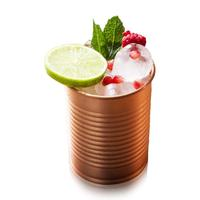 Copper Cocktail Tins 12oz Bean Tin Design Perfect Copper Mug,Tumbler, Glass Cup Bar Set for Better Drinks