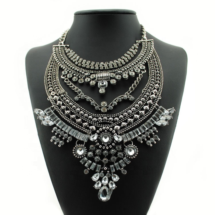 Vintage Necklace Luxury Crystal Gemstone 펜 던 트 Necklace